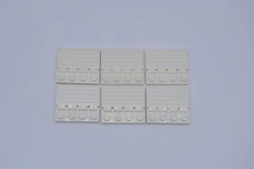 LEGO 6 X Trappe Porte Blanc Chemin de Fer Charnière White Hinge 2873 4315
