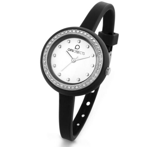 OPS OROLOGIO OPSOBJECTS BON BON CRYSTAL NERO DONNA OPSPW-428