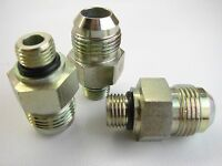 (3) -10 Jic X 1/4 Orb Straight Thread O-ring Connectors (t51)