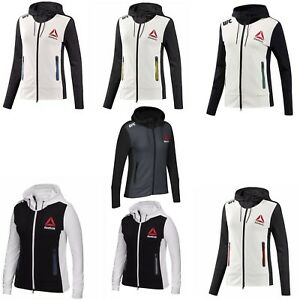 Details About Reebok Women S X Ufc Fk Walkout Full Zip Long Sleeve Hoodie Jacket Tag Less New
