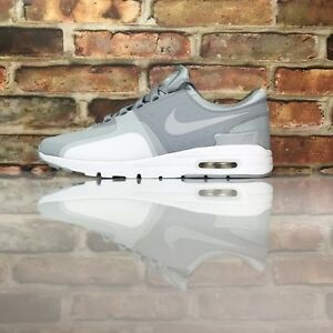 Details about Nike Women Air Max Zero Size 10 Running Athletic Shoe wolf grey 857661 009