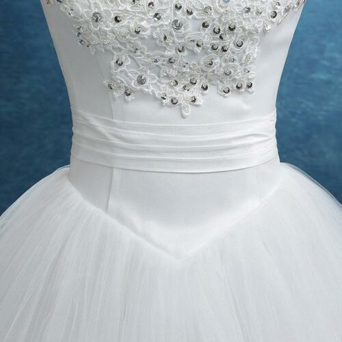 New Elegant Ivory//Red Princess Wedding Dresses Bride Wed Frock Bridal Ball Gowns