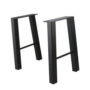 Sensational Details About 16 Industry Coffee Table Leg Metal Steel Chair Bench Legs Set Of 2 Ibusinesslaw Wood Chair Design Ideas Ibusinesslaworg
