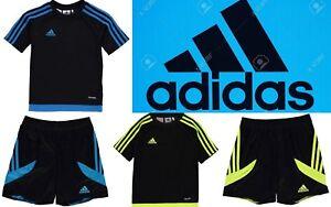 bc75766177db5 adidas Kids 3 Stripe Estro T-Shirt Short setJunior Boys Short ...