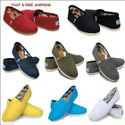 Women Classics TOM Loafers Canvas Slip-On Flats shoes Size 6-10