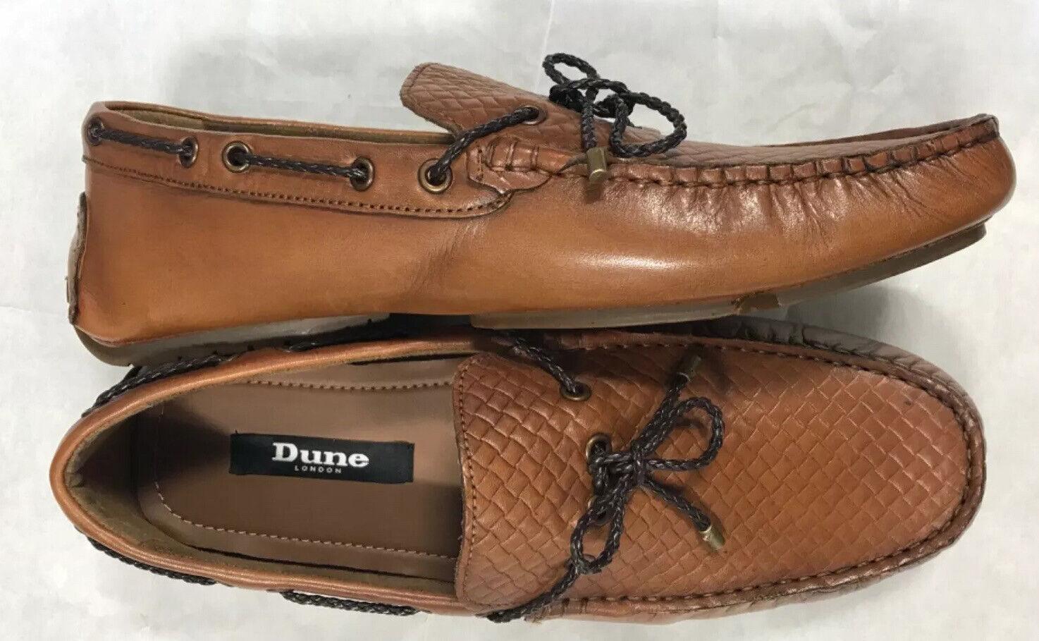 Dune London Boston Slip-on Leather Men's Loafers Moccasin Shoes UK 8 EU 42