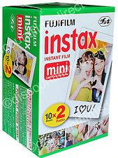 40 shots Ist CLASS POST 2 x FUJI INSTAX MINI INSTANT PRINT FILM 2 PACK