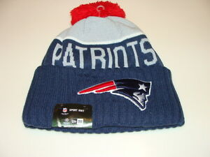New England Patriots Knit On Field New Era Toque Beanie Player ... 7be52c2d786