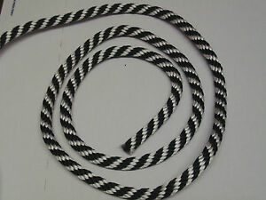 "ANCHOR ROPE,DOCK LINE,Rigging 3//8/"" x 50/' BLACK USA POLYESTER 3000lb DIRT CHEAP!"