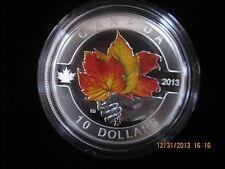 $10 1/2 oz  FINE SILVER COIN-MAPLE LEAF MATTE PROOF CANADA 2013 MINTAGE 40000