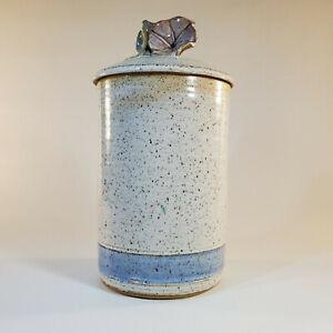 Robin-Beckett-Morning-Glory-Approx-9-034-Lidded-Cansiter-Studio-Art-Pottery-Retired