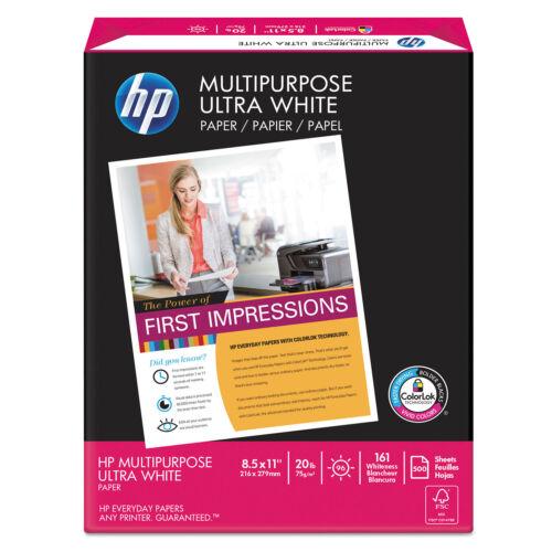 HP Multipurpose Paper 96 Brightness 20 lb 8 1//2 x 11 White 500 Sheets//Ream