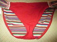Lucky Brand, Red, Large, Bathing Suit, Bikni, Bathing Suit Bottom