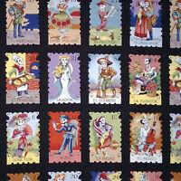 Five Yards-cartas Marcadas Color Day Of Dead Fabric Alexander Henry 7666g Black