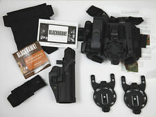 BLACKHAWK! MULTIFUNKTIONS HOLSTER SET P8 NEU SCHWARZ RECHTS german army kit new