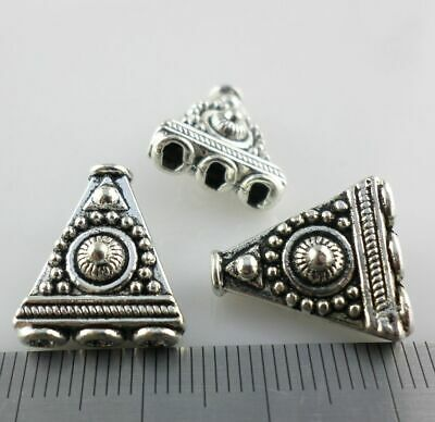 Jewelry Findings Jewelry Connectors & Bails 12/18pcs Tibetan Silver Charms Beads Triangle Carving Connectors 14.5x16mm