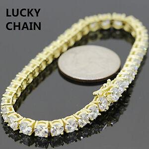 """Sterling 925 Argent Bling 1 Rangée Tennis Link Bracelet 6.5/"""" 3 mm 10 g"""