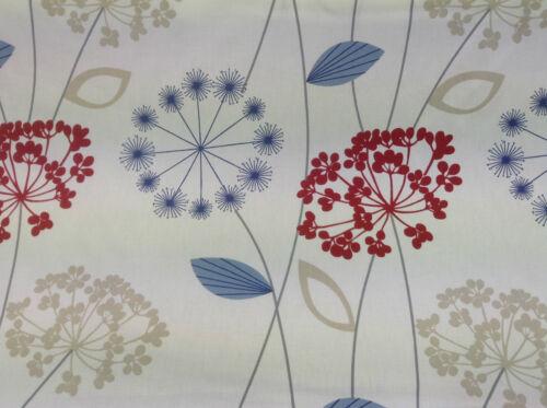 Dandelion Blue//Red Cotton  Curtain//Craft Fabric