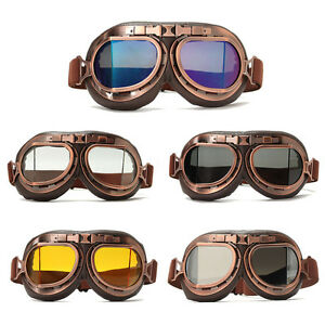 Retro-Motorcycle-Goggles-Motorbike-Flying-Scooter-Pilot-Helmet-Glasses