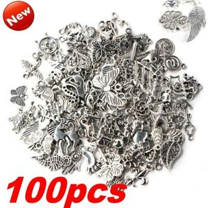 Wholesale-100pcs-Bag-Bulk-Lots-Tibetan-Silver-Mix-Charm-Pendants-Jewelry-DIY