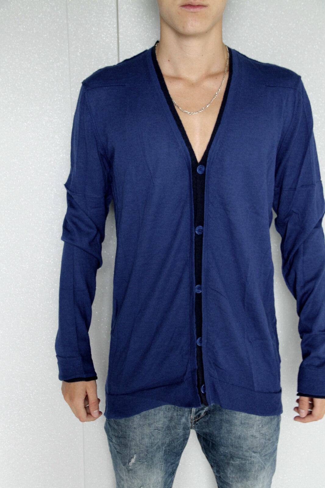 Vest Blau angora merino extra fine m+ F GIRBAUD T XXL NEW/LABEL val