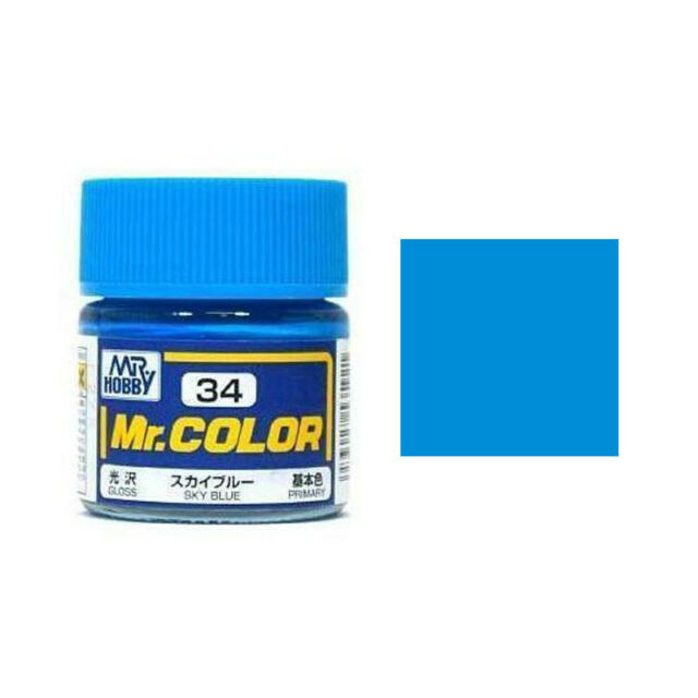 MR HOBBY Color C34 Sky Blue (Gloss / Primary) Paint 10ml US