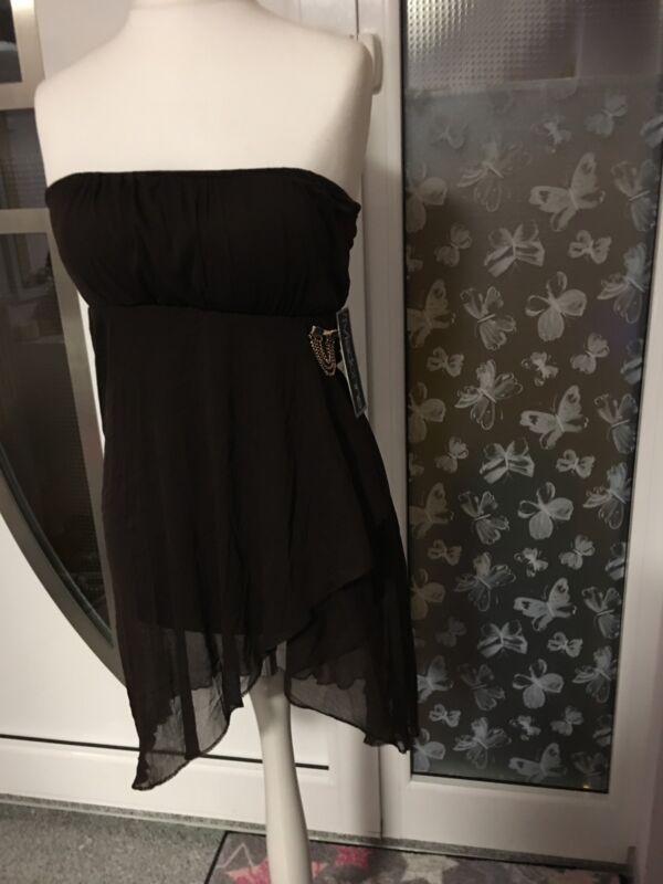 Abendkleid Madonna Braun Neu Top Minikleid Sommer Sexy Mini Bequem Hochzeit