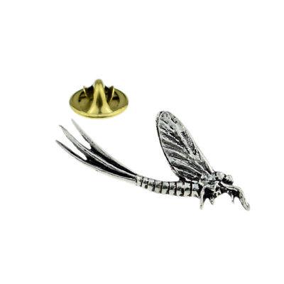 Mayfly English Pewter Lapel Pin Badge XTSPBC20