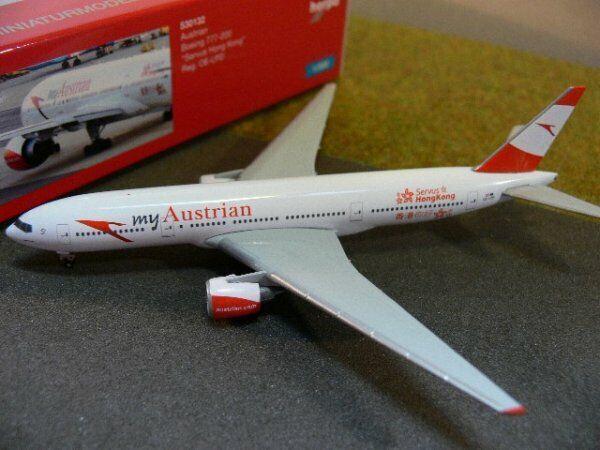 1 500 Herpa Wings  Austrian Boeing 777-200 Servus Hong Kong 530132  | Billiger als der Preis