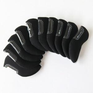 Set-Of-10X-Golf-Club-Iron-Head-Cover-Neoprene-Headcovers-For-Black-Mizuno-New