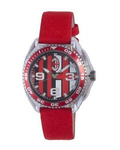 CHRONOTECH-Kid-039-s-AC-6280L-03-Red-Leather-Canvas-Water-Resistant-Watch