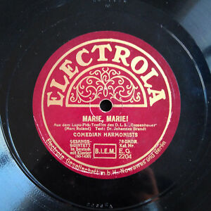 COMEDIAN-HARMONISTS-78-RPM-034-Marie-Marie-Hof-Serenade-034-ELECTROLA-2204