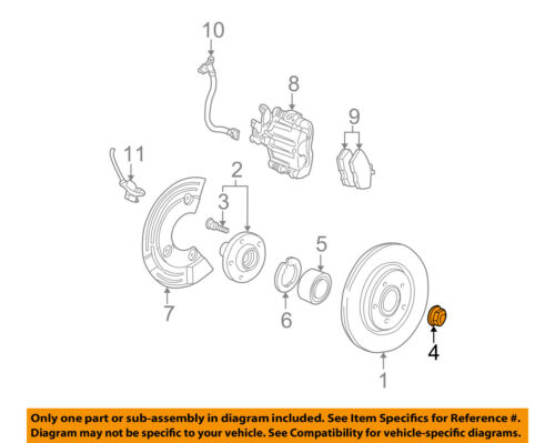 FORD OEM Brake-Rear-Retainer Nut XW4Z4B477AA