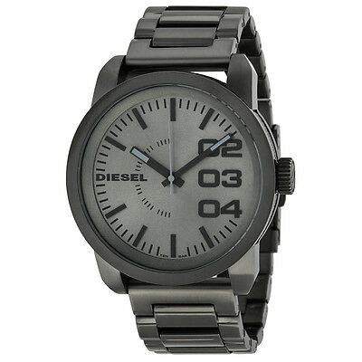 Diesel Franchise  Grey Dial Grey Ion-plated Mens Watch DZ1558