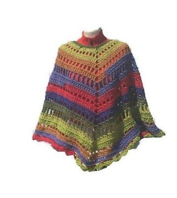 Open Poncho Shawl Crochet Pattern Cape Wrap Poncho Printed PDF
