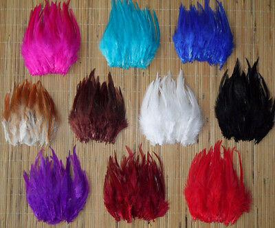 50-100-200pcs Beautiful Pheasant Neck Feathers 10-15cm/4-6inch 10 Color Choose