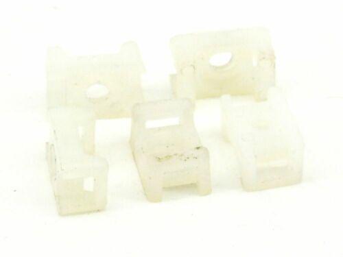 5x Befestigungssockel Mini Kabelbinder-Schraub-Montage-Sockel Halterung L~ 15mm