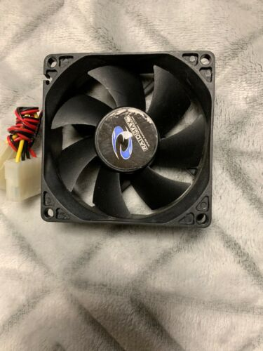 Computer PC Raidmax Black Blade 120mm Case Fan with 4 PIN Molex Acessory Parts