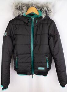Superdry-Sport-Outerwear-Company-Maenner-Bomber-Jacke-Casual-Freizeit-schwarz-Groesse-L