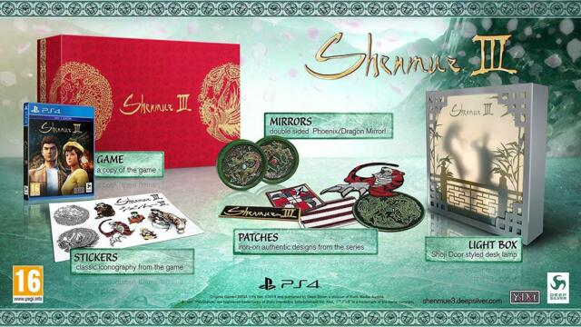 Deep Silver Shenmue III 3 Sony Ps4/PlayStation 4 Collector Edition Game PreOrder