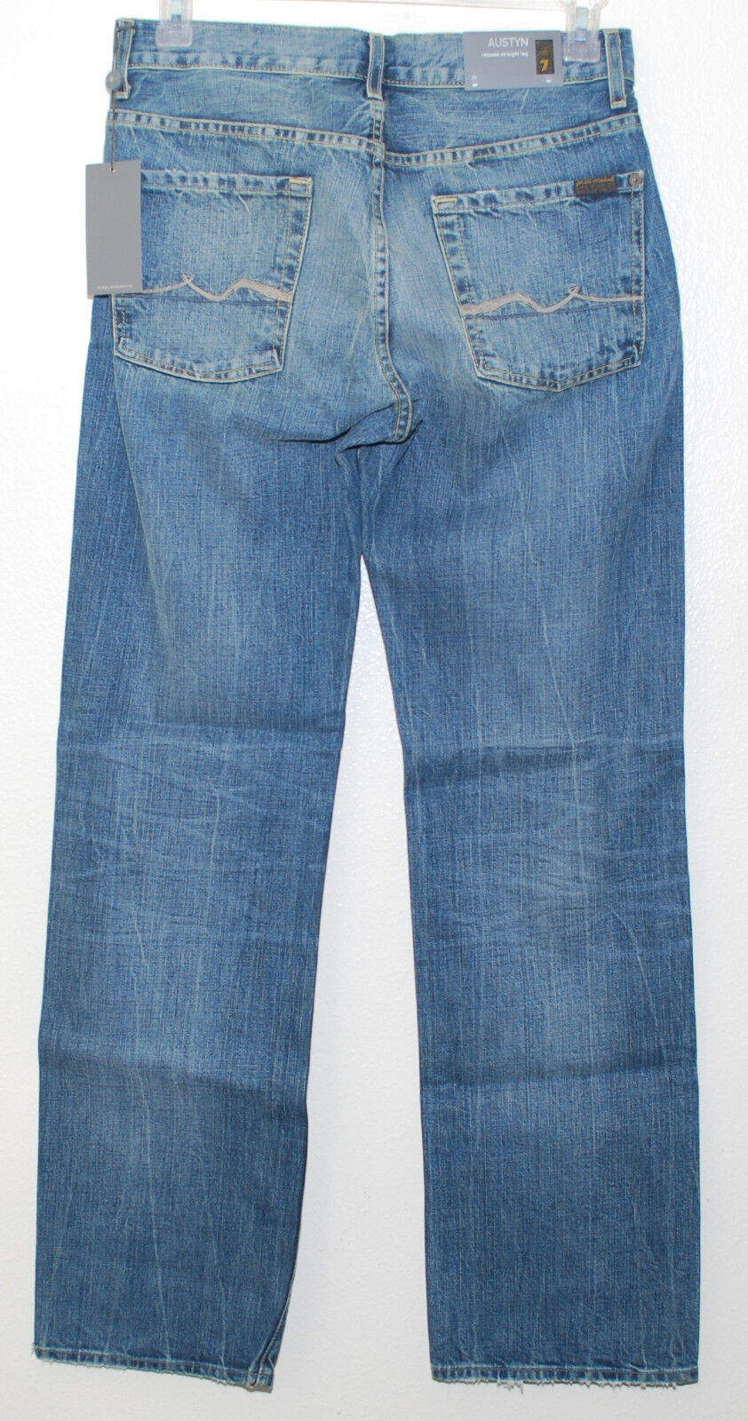 7 For All Mankind Mens Austyn Relaxed Straight Leg in FUSA 30 NWT