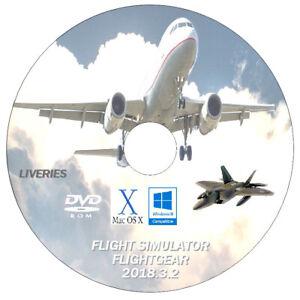Details about FlightGear Flight Simulator 2019 - 10 8 7 PC & MAC - AIRCRAFT  LIVERIES ONLY