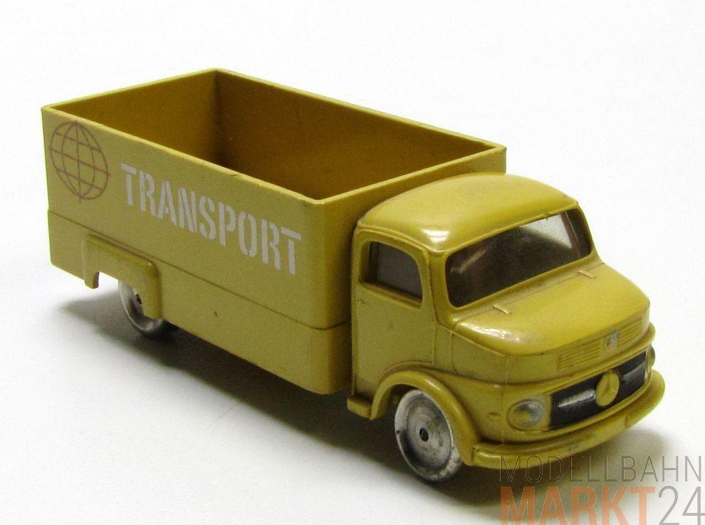 LEGO Mercedes Transporter  Transport  Ladefläche in gelb mit Metall Wheelsn 1 87