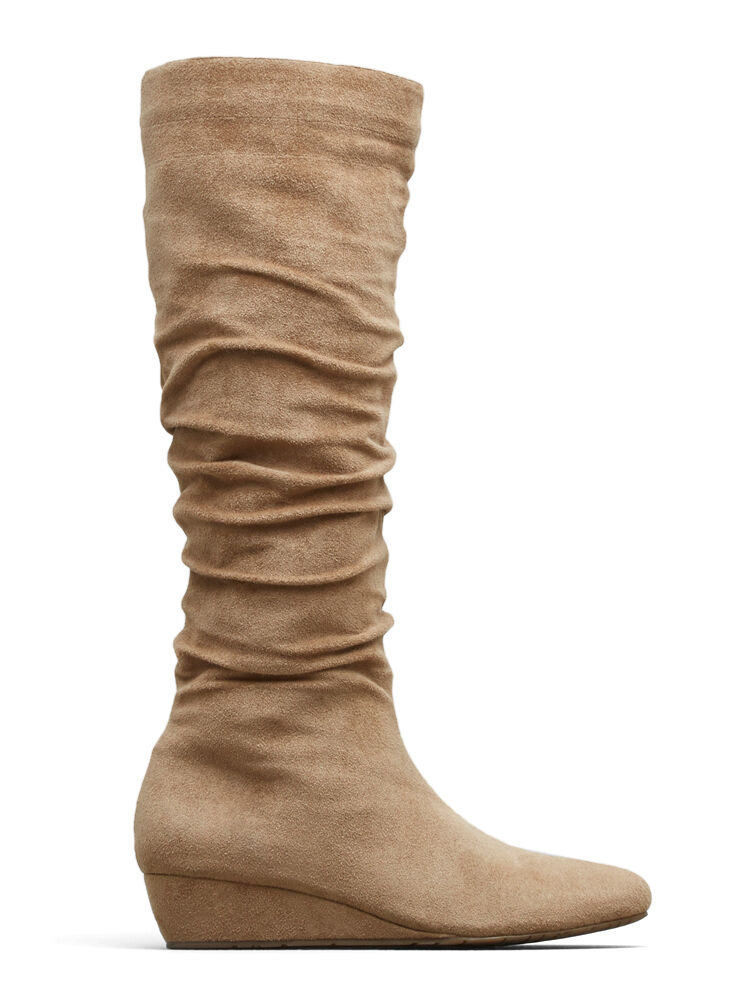 Kenneth Cole Women's Fire Drill Stack Boot, Light Taupe, Size 6 Med.,MSRP  129