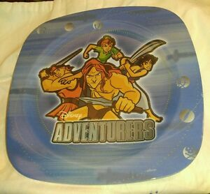 "Disney Adventurers Plastic Plate Figures Planets Multi Color 8 "" Square Bowls & Plates"