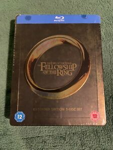 The-Lord-of-the-Rings-Fellowship-of-the-Ring-Blu-Ray-Steelbook-3D-UK-Imp-Neu-OVP
