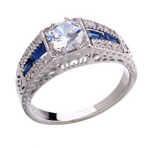 Wholesale-Silver-Vintage-Wedding-Sapphire-Engagement-White-Topaz-6-10-Ring-925