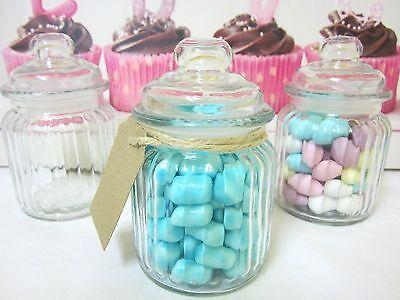 BULK BUY-200x250ml Mini/Small Glass Jars+Lids-Wedding Favours/Bomboniere $1.10ea