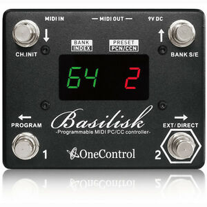 One Control Basilisk Programmable Midi Presets Foot Switch