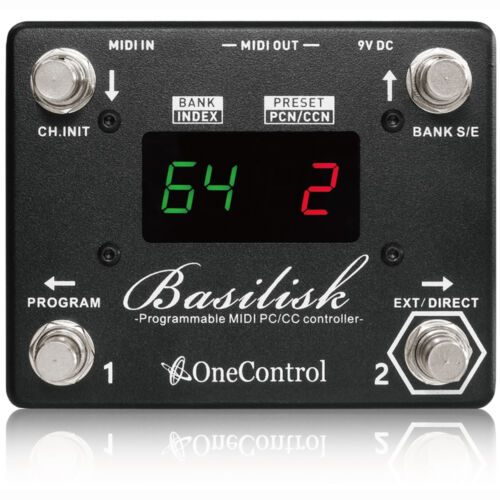 One Control Basilisk Programmable MIDI Presets Foot Switch Controller Pedal